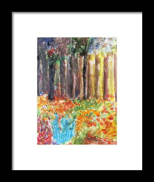 Woods Framed Print featuring the painting Enchanted Woods by Trilby Cole