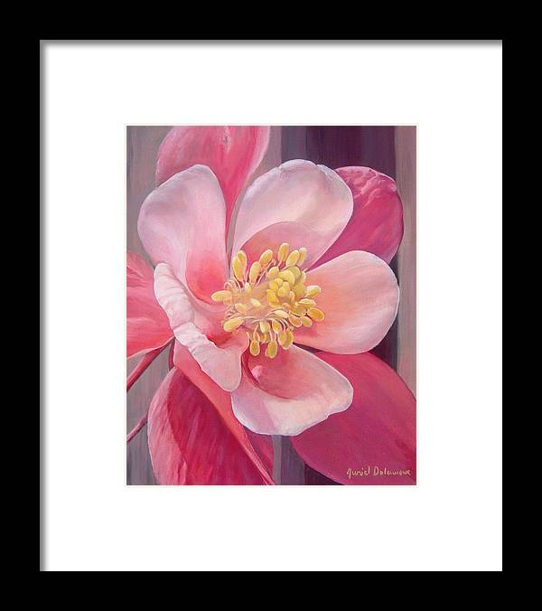 Floral Painting Framed Print featuring the painting Encolie by Muriel Dolemieux