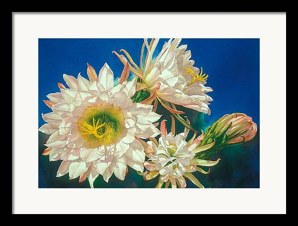 Floral Framed Print featuring the print Encore by Mary Backer