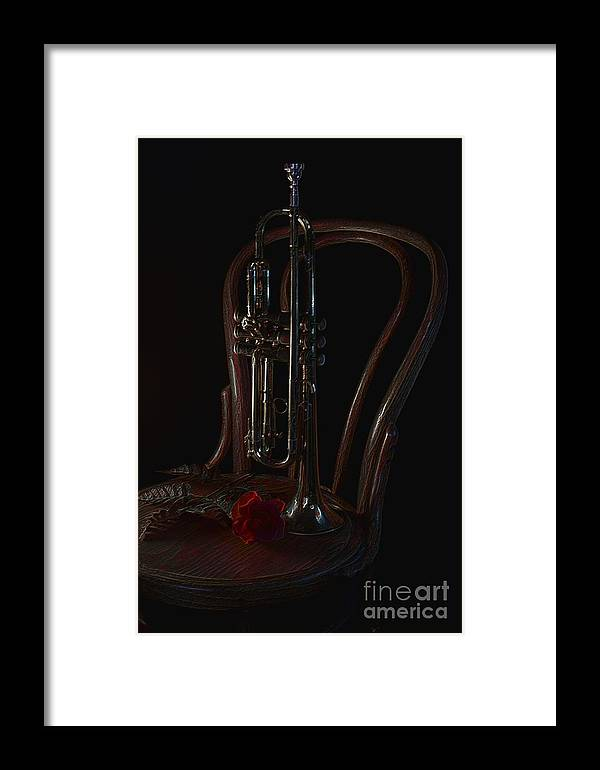 Trumpet Framed Print featuring the photograph Encore by The Stone Age