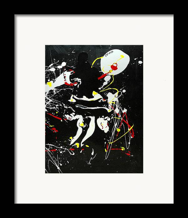 Abstract Framed Print featuring the painting Encounter by Paul Freidin
