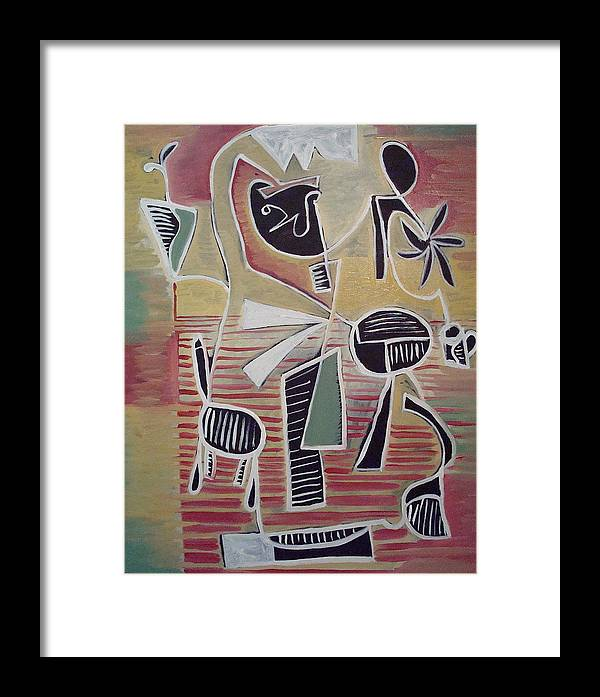 Abstract Framed Print featuring the painting End Cup by W Todd Durrance