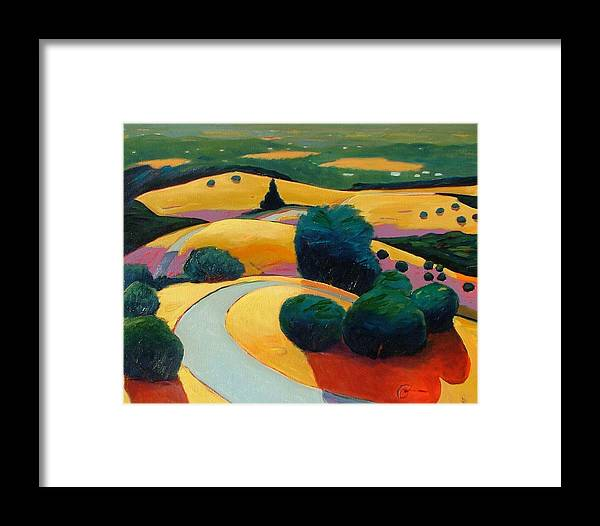 Rolling Hills Framed Print featuring the painting End In Sight by Gary Coleman