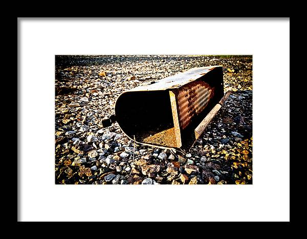 United States Postal Service Framed Print featuring the photograph End Of An Era by Sennie Pierson