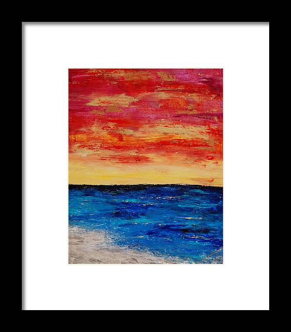 Beach Framed Print featuring the painting End Of Day by Deborah Gall