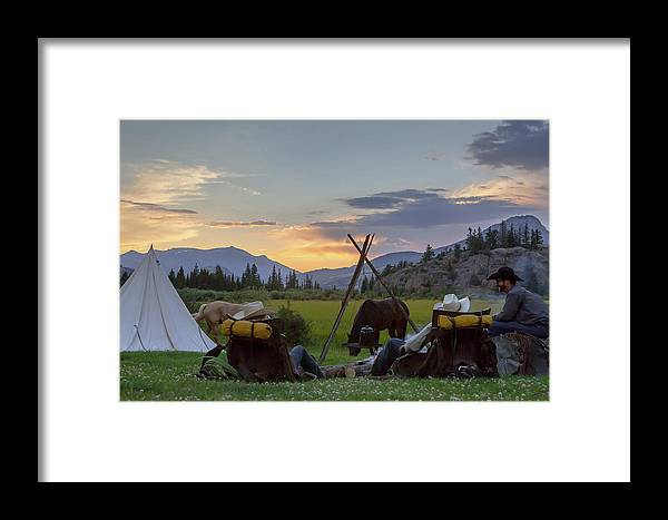 Cowboys Framed Print featuring the photograph End Of The Day by Jack Bell