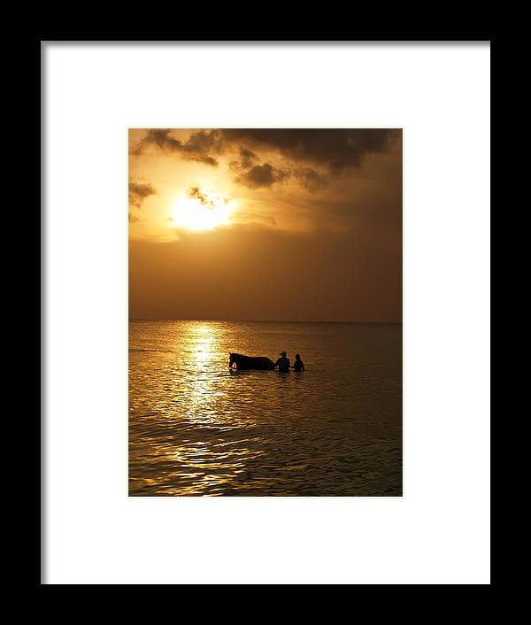 Sunset Framed Print featuring the photograph End Of The Day by Linda Morland