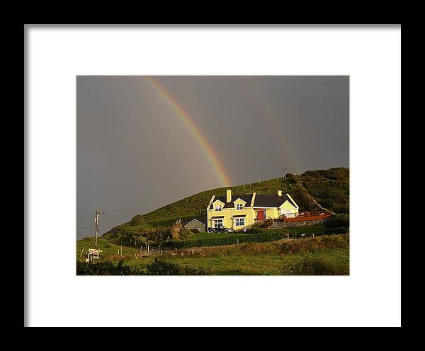 Travel Framed Print featuring the photograph End Of The Rainbow by Mike McGlothlen