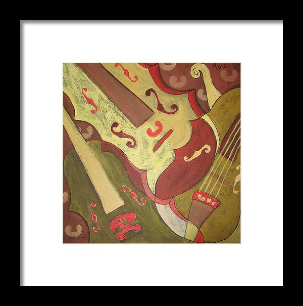 Violin Framed Print featuring the painting Endless Music by Aliza Souleyeva-Alexander