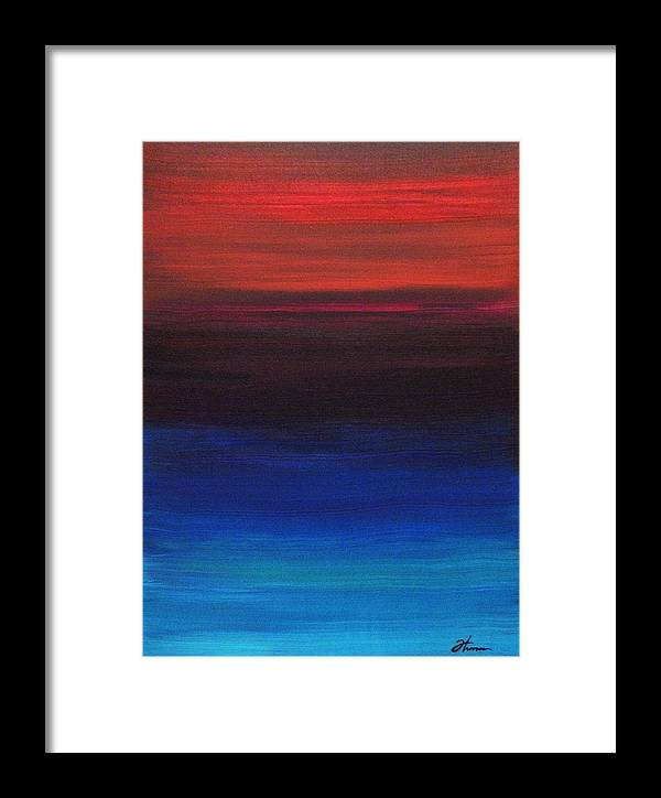 Original Framed Print featuring the painting Endless by Todd Hoover