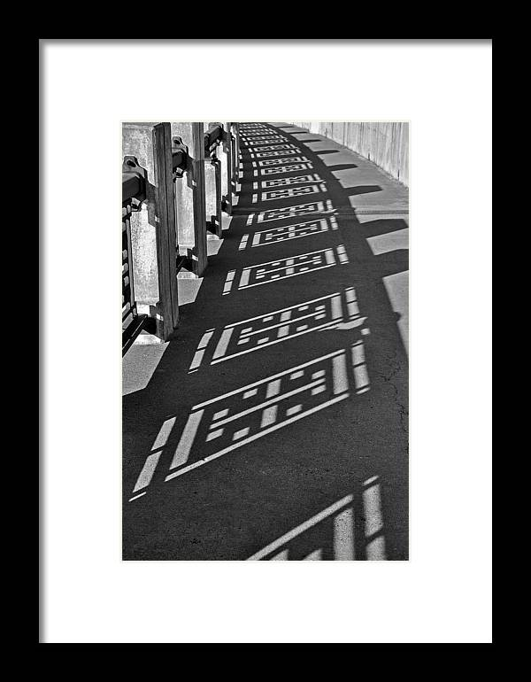 B&w Framed Print featuring the photograph Endless Walkway by John Ricker