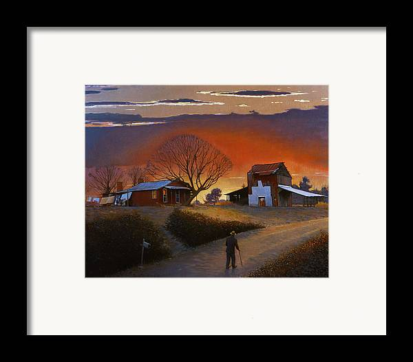 Doug Strickland Framed Print featuring the painting Endurance by Doug Strickland