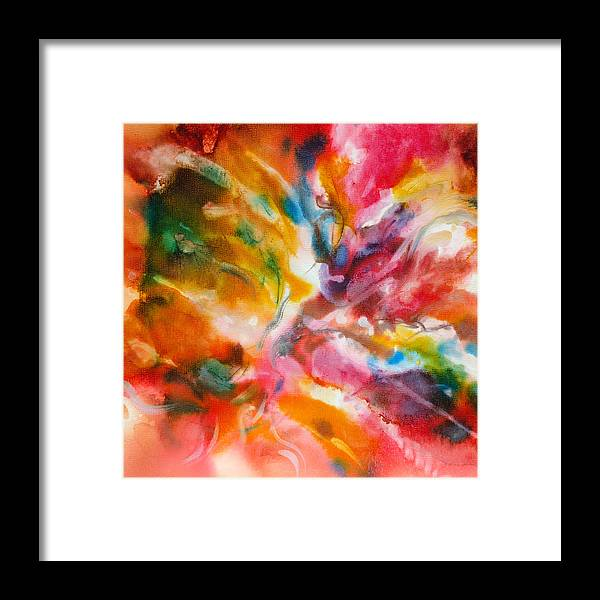 Abstract Framed Print featuring the painting Energized - A - by Sandy Sandy