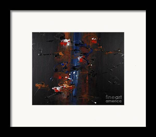 Black Framed Print featuring the painting Energy by Nadine Rippelmeyer