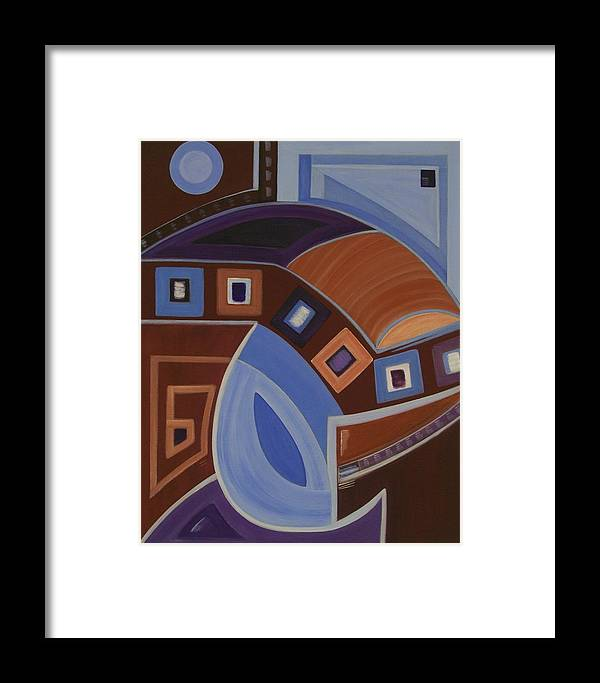 Abstract Framed Print featuring the painting Energy by Sandy Bostelman