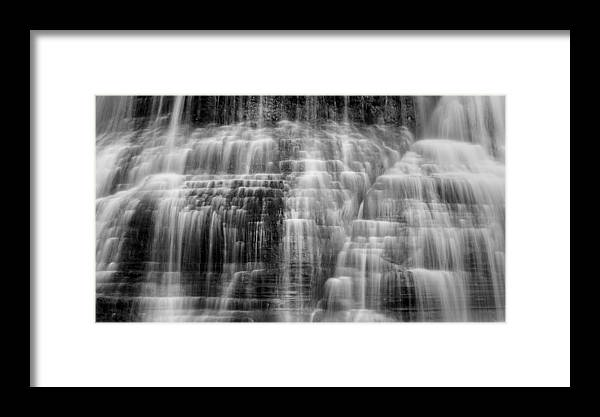 Ithaca Framed Print featuring the photograph Lower Falls Cascade #2 by Stephen Stookey