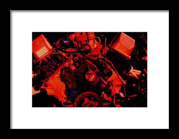 Engine Framed Print featuring the digital art Engine 2 by Lisa Johnston