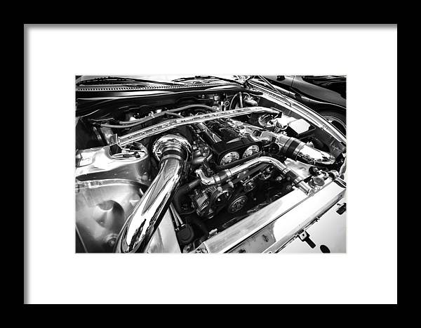Engine Framed Print featuring the photograph Engine Bay by Eric Gendron