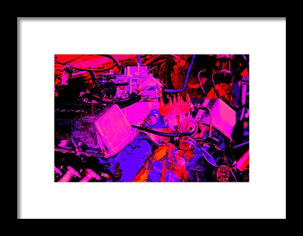 Engine Framed Print featuring the digital art Engine by Lisa Johnston