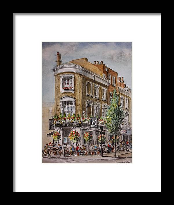 London Framed Print featuring the painting England London The Duke Of Kendal by Yvonne Ayoub