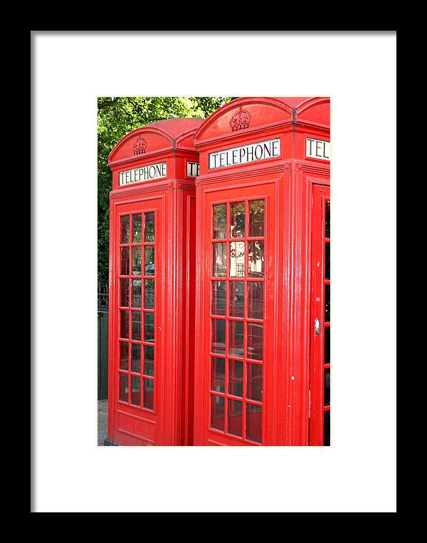 Phone Framed Print featuring the photograph England's Calling by Sara Summers