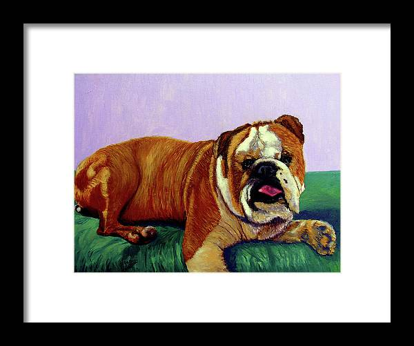 Bulldog Framed Print featuring the painting English Bulldog by Stan Hamilton