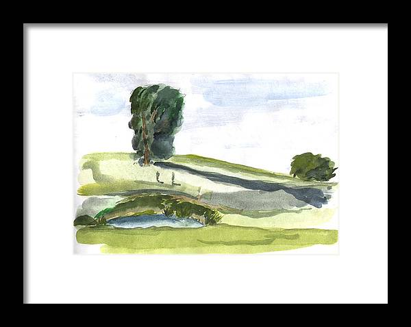 Kevin Callahan Framed Print featuring the painting English Countryside by Kevin Callahan