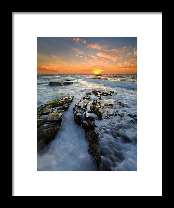 Sunset Framed Print featuring the photograph Engulfed by Mike Dawson