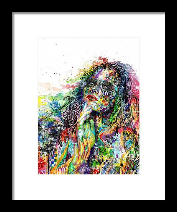 Dream Framed Print featuring the painting Enigma by Callie Fink