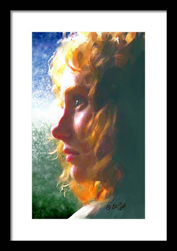 Redhead Framed Print featuring the painting Enigma by Elzire S