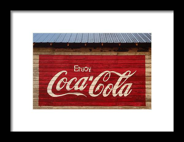 Rural Framed Print featuring the photograph Enjoy Coke by Keith May