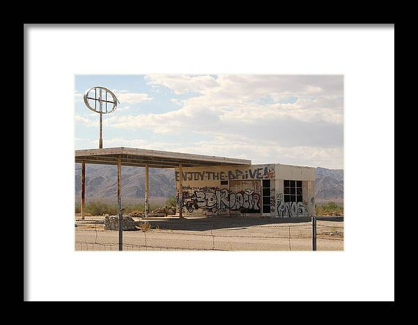 Abandoned Building Framed Print featuring the photograph Enjoy The Drive by Colleen Cornelius