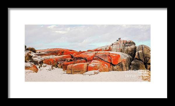 Tantalising Tasmania Series By Lexa Harpell Framed Print featuring the photograph Enjoying The Moment Bay Of Fires by Lexa Harpell