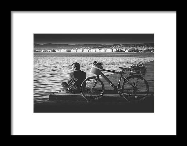 Sun Framed Print featuring the photograph Enjoying The Sun In Greece by Sotiris Filippou
