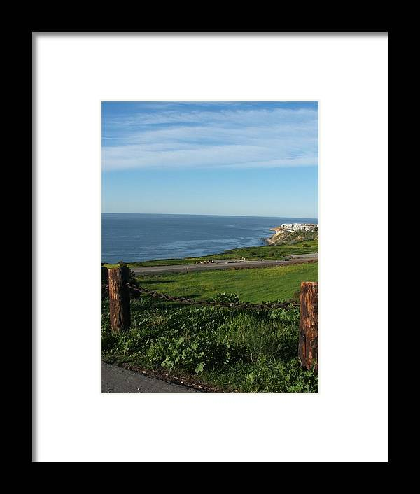 Ocean Framed Print featuring the photograph Enjoying The View by Shari Chavira