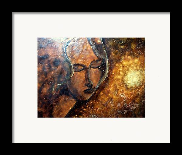 Portrait Framed Print featuring the painting Enlightenment by Karla Phlypo-Price