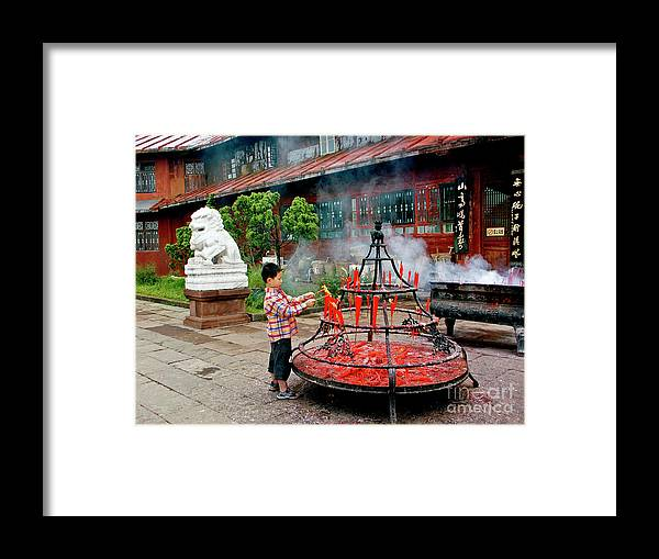 Emei Framed Print featuring the photograph Enlightenment by Roberta Bragan