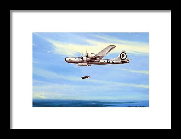 Military Framed Print featuring the painting Enola Gay by Marc Stewart