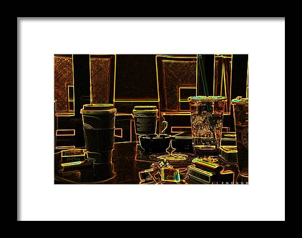 Coffee Framed Print featuring the photograph Enough by Jonathan Ellis Keys