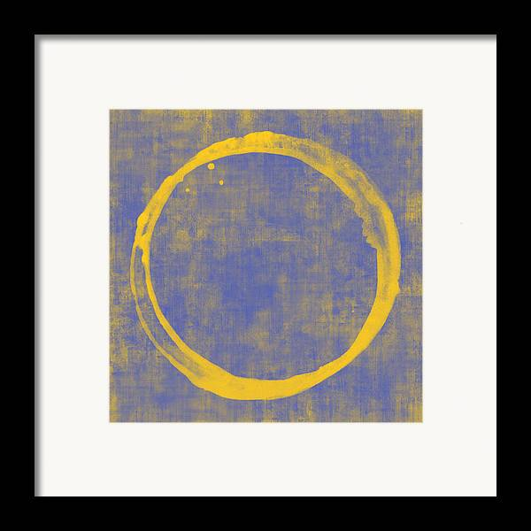 Circle Framed Print featuring the painting Enso 1 by Julie Niemela