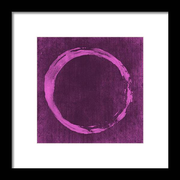 Enso Framed Print featuring the painting Enso 4 by Julie Niemela