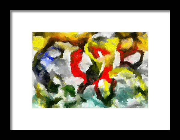 Abstract Framed Print featuring the painting Entangled Firmament by D A Diggs