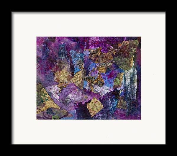 Spider Web Framed Print featuring the painting Entanglement by Don Wright