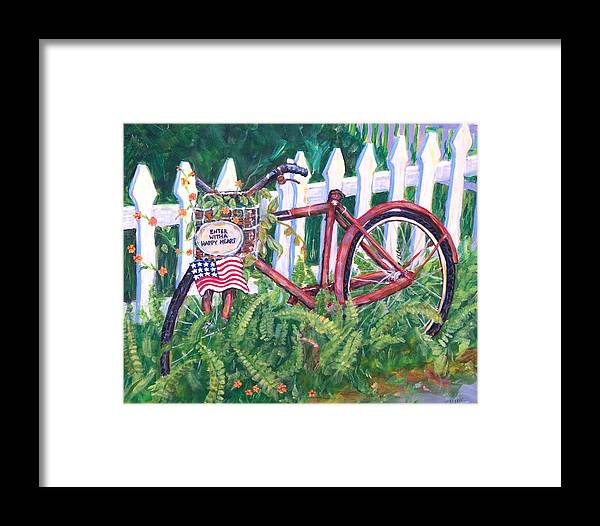 Acrylic Framed Print featuring the painting Enter With A Happy Heart by Ruth Mabee