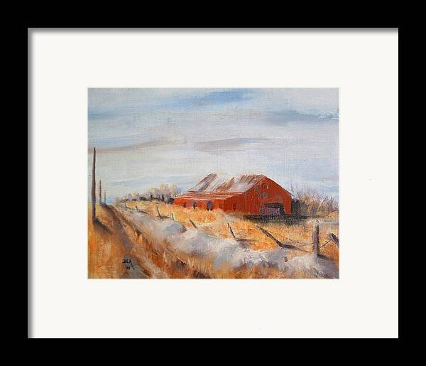 Landscape Framed Print featuring the painting Entering Choteau County by Bryan Alexander