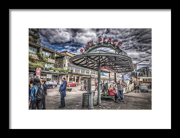 Pike Place Framed Print featuring the photograph Entering Pike Place by Spencer McDonald