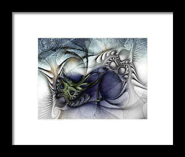 Abstract Framed Print featuring the digital art Enterolithic by Casey Kotas