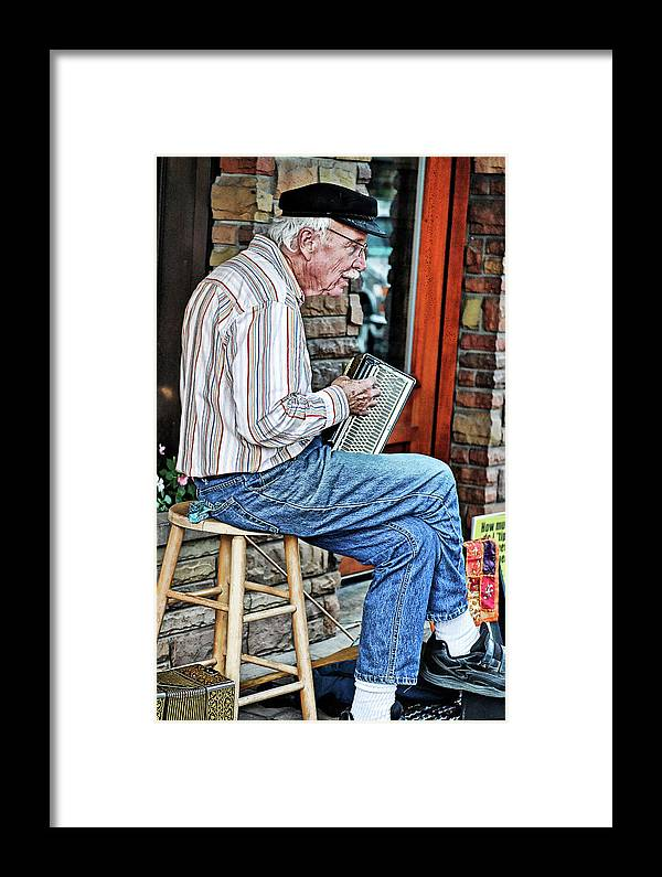 Man Framed Print featuring the photograph Entertainer by Maria Dryfhout