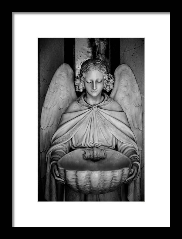 Angel Framed Print featuring the photograph Entrance Angel by Anthony Citro