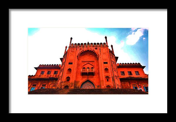 Architecture Framed Print featuring the photograph #entrance Gate by Aakash Pandit